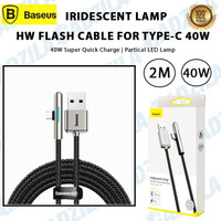 BASEUS KABEL IRIDESCENT TYPE C CABLE GAMING LAMP HW FLASH CHARGE 40W