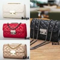 Mini Sling Bag Quilted G0401 Tas Selempang Rantai Kecil Elegant Import