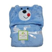 Selimut Bayi Topi Boneka / Selimut Bayi Karakter Fleece - Doraemon