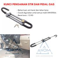KUNCI PENGAMAN STIR SETIR KE DAN PEDAL GAS MOBIL GARPU 6081