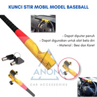 KUNCI SETIR STIR MOBIL BASEBALL MODEL PUTAR UNIVERSAL PENGAMAN MOBIL