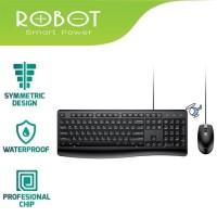 ROBOT Keyboard PLUS Mouse Combo Set KM2500 Garansi Original Resmi