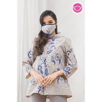 Kalina Dobi T0592,Baju atasan blouse batik wanita modern nona rara
