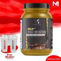 M1 GOLD PRO MASS GAINER 2lbs all in one inc BCAA+CREATINE FREE SHAKER