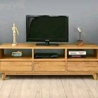Jual Bufet TV Minimalis Jepara UK 150 Bahan Kayu Jati Pilihan