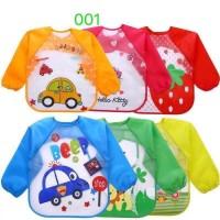 SLB10-Slabber waterproof baju tangan bib celemek anak balita kids