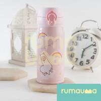 RUMAUMA Botol Air Minum Anak Tumbler Pink Llama Animal Lucu FDA FREE