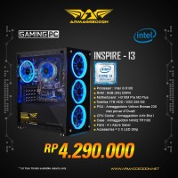 ARMAGGEDDON PC GAMING INSPIRE-I3 INTEL I3 9100 3.6GHZ/Intel UHD Grapic