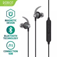 Bluetooth Headset Robot R5 Wireless Earphone Android Magnetic