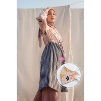 Arabella Pink Pattern Tunic + Headloop Cloth New Pink Pattern