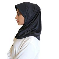 Jilbab Hitam Hijab Instan Kerudung Bergo Casual All Size
