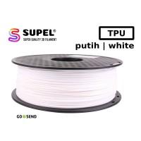 Filament Filamen Tinta Printer 3D TPU Fleksibel 1.75 mm Putih | White