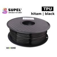 Filament Filamen Tinta Printer 3D TPU Fleksibel 1.75 mm Hitam | Black