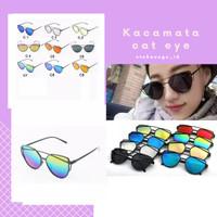 Kacamata kekinian / kacamata korea / cat eye / murah / lucu