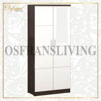 OSFRANS Termurah Lemari Pakaian 2 Pintu + Cermin Alba 2m