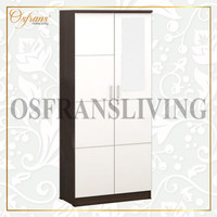 OSFRANS Termurah Lemari Pakaian 2 Pintu + Cermin ALBA 2M LT