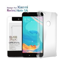 Premium Soft Case Xiaomi Redmi Note 5A Clear - Anti Crack Glass Pro