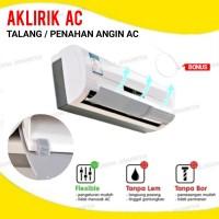 Talang / Penahan Angin AC Aklirik Reflektor Penahan Hembusan Angin AC