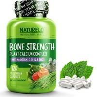 NATURELO #1 BONE STRENGTH Plant-Based Calcium, Magnesium, Gluten Free