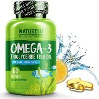 NATURELO #1 Omega-3 Premium Fish Oil 1100 mg Triglyceride Omega 3 MINI