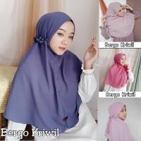 Hijab BERGO TALI KRIWIL / Maryam Diamond / Jilbab Instan / Khimar