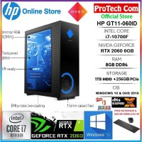 PC DESKTOP HP OMEN GT11-060ID i7-10700F 8GB 256GB+1TB RTX2060 6GB W10