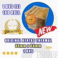 Kertas thermal paper roll / Kertas Termal 80 x 60 1 Dus terlaris