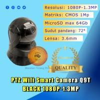 IP Smart Camera PTZ CCTV Wifi 1080P-1.3MP Q9T BLACK ( Yoosee ) -MURAHH