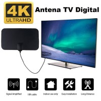 Antena TV Digital DVB-T2 4K Antena Indoor UHF High Gain 25dB Antenna