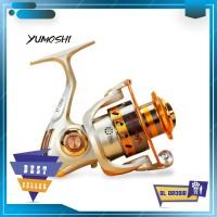 Reel Pancing Spinning 12 Ball Bearing YUMOSHI REELSKING EF1000 Silver