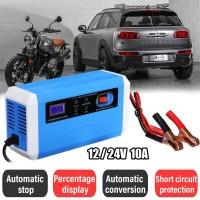 Alat Cas Aki/Accu/ Charger Aki Mobil Motor 12-24V 10A dengan LCD