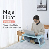 Meja Laptop/Meja Belajar Lipat Nampan Bed/Foldable Study Table Mini