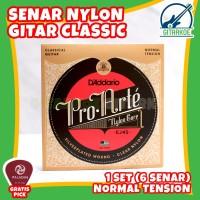 Senar Gitar Nylon Daddario Nilon Klasik Classic Akustik 1 Set EJ45