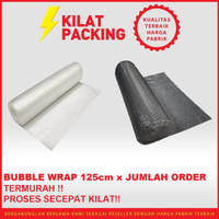 BUBBLE WRAP ROLL METERAN (1,25M x JUMLAH ORDER) HITAM PUTIH BUBLE WRAP