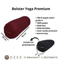 Round Bolster Yoga Premium - Maroon