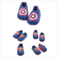 sepatu prewalker bayi laki superman
