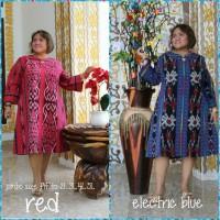 Tunik (mini dress) tenun jepara original full trikot( adem.ory)JUMBO
