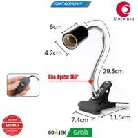 Fiting lampu uva uvb, fitting Jepit Flexible Import, anti meleleh
