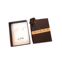 Kotak tempat perhiasan cincin anting motif hiasan mawar