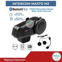 MAXTO M2 INTERCOM BLUETOOTH HELM 6 RIDER VS FREEDCONN SENA ORIGINAL