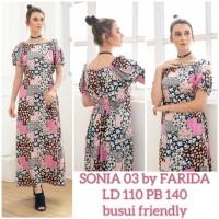 daster arab/india/dubai/turki farida sonia dress busui casual