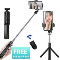 Tongsis Bluetooth Selfie Stick Remote Bluetooth Tripod Expandable