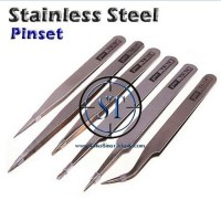 Pinset 6 Fungsi Serbaguna Stainless Steel Anti-static Tweezers Tools