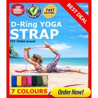 Yoga Strap / Yoga Belt / Yoga D Ring / Tali Yoga / Fitness FIT YOGA