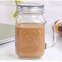 Harvest Drinking Jar Tutup Stainless/Harvest Jar/Mug Jar Glass/Mug Jar
