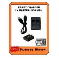 Action cam Dual charger baterai batrai Brica Bpro 5 Eken Sbox Kogan 4k