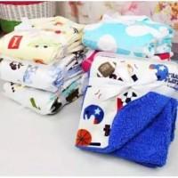 Selimut Double Fleece Motif tanpa Topi 72x100cm Baby Fleece Blanket
