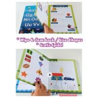 Buku Aktivitas Menulis Anak Balita (Bisa Dihapus / Wipe & Clean Book)