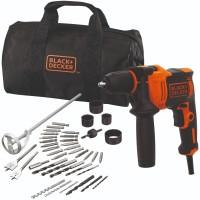 Black+Decker 710W Hammer Drill + 40Accessories + Softbag (BEH710SA40-Q