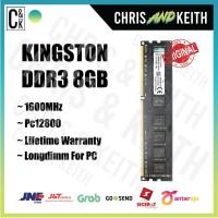 RAM KINGSTON PC DDR3 8GB PC-12800 / 1600 Mhz LONGDIM MEMORY NEW ORI